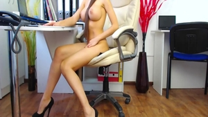 Very hot hotwife cheating on webcam
