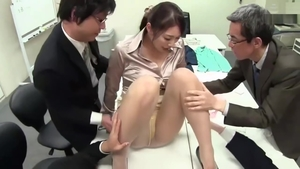 Japanese sucking cock in office HD
