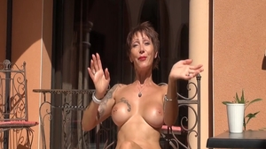Short hair cougar rough fucked in the ass