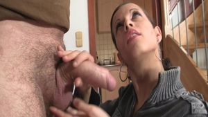 Romantic masturbation together with young stepmom