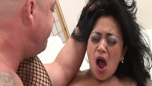 Very hawt & big tits mature Lucky Starr brutal pussy fucking
