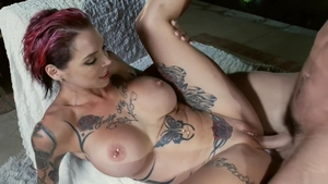 Ramming hard in the company of inked babe Anna Bell Peaks
