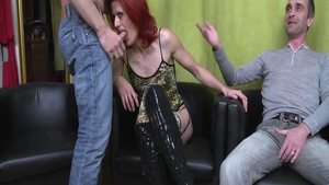 Sex scene along with super hot french stepmom