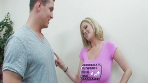 Busty Katie Kox blonde hair cumshot video