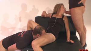 Super hot stepmom hardcore gangbang