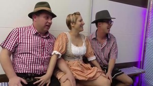 Extreme gangbang together with shaved german amateur