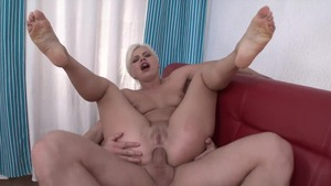 Tight busty slut first time pounding