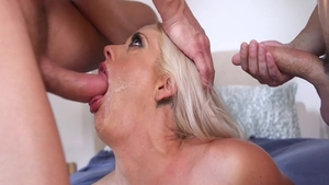 Orgy with busty housewife Holly Heart