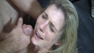 Blonde hair Cory Chase receiving facial sex tape