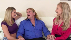 Stepmom Evan Stone accompanied by Nina Hartley