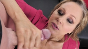 Raw sex in company with blonde hair
