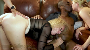 Amateur Creampie Cathy interracial pounding in HD