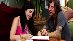 Babe Angell Summers among Chad Alva rough blowjobs