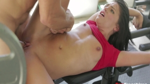 Young Adriana Chechik college student sucking cock XXX