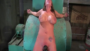 Bondage during interview with big butt couple Trina Michaels