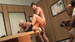 Hot Brooke Haven doggy after interview