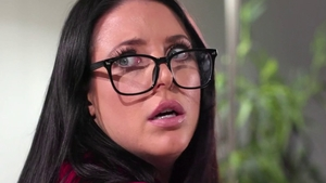 Ramming hard with Ela White in the company of Angela White