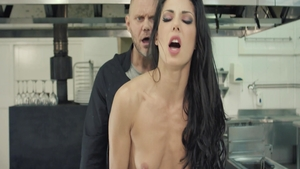 Hot Alexa Tomas with Nacho Vidal rough cooking in the kitchen