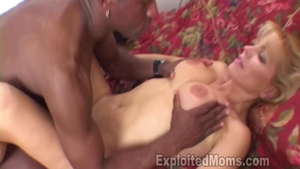 Shaved Nicole Moore receives plowing hard