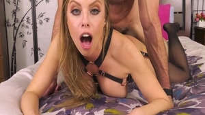 Gorgeous blonde babe Britney Amber need plowing hard in HD