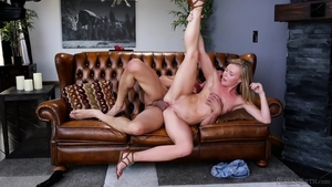 Sex scene in company with blonde