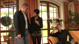 Fingering escorted by beautiful in pantyhose HD