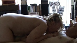 Homemade sloppy fucking in the company of plump amateur