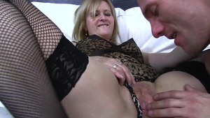 Loud sex together with very sexy maid