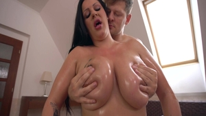 Large boobs super sexy caucasian mature ass fucked