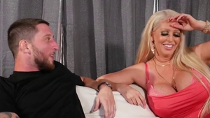 Inked cougar doggy deepthroat on the couch in HD