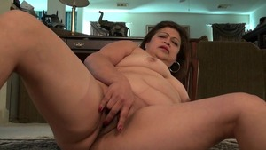 Lustful granny rides a hard dick