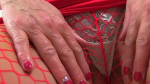 British wearing fishnets playing with toys HD