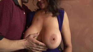 Trimmed & pretty Persia Monir pussy fucking in the kitchen