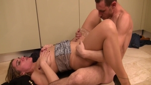 Hard sex along with huge boobs french blonde