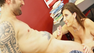 Big tits Sara Jay gets a buzz out of sex