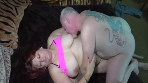 Shaved mature pussy eating