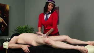 Amateur Chantelle Fox CFNM massage after classes in HD