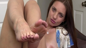 Fucking hard in company with hairy pussy brunette Mindi Mink