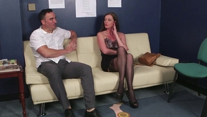 Star Holly Kiss in stockings blowjobs
