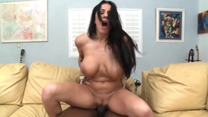 Interracial pounding porn between busty hardcore Lylith Lavey