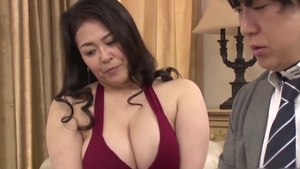 Femdom on webcam with natural MILF