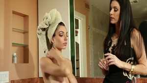 Mature Darcie Dolce accompanied by India Summer masturbating