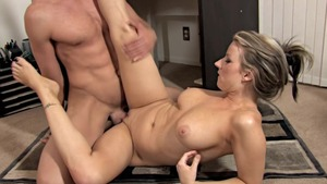Busty & very huge tits Carolyn Reese got nailed in office