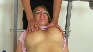 Large tits MILF rough ass fucked
