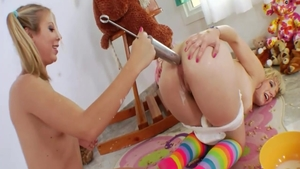 Blonde Proxy Paige playing with toys sex video