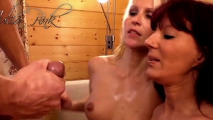 Julia Pink amongst Conny Dachs private group sex