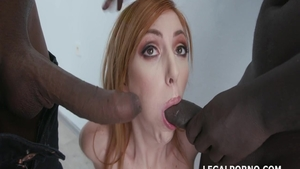 Doggy sex along with large tits redhead Lauren Phillips