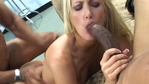 Blonde babe Angel Long wishes toys action