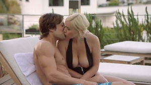 Blonde hair Kylie Page licks Jean Val Jean
