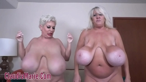 Good fuck in company with busty supermodel